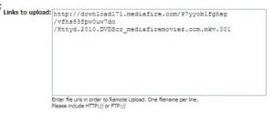 Fileserve Remote upload option