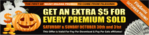 October Promo from FileSonic - get $5 for each premium!