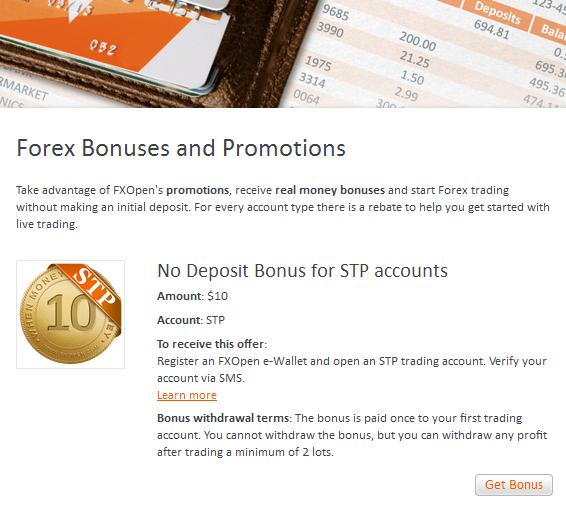 fxopen all bonuses page