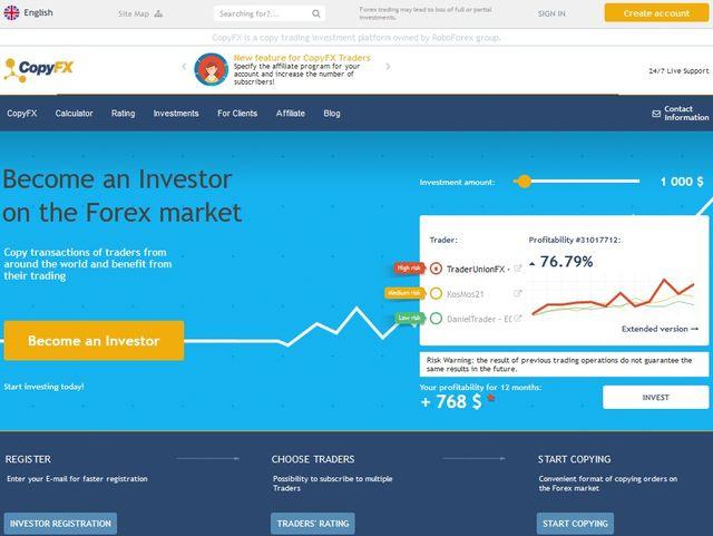copy trading platform CopyFX review