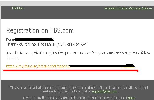 email verification FBS
