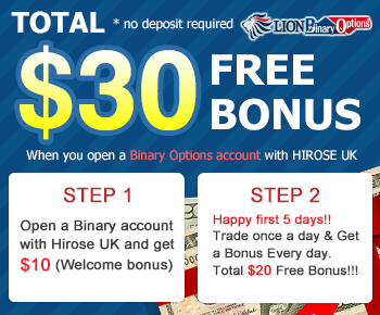 30 usd from Lion Binary Options