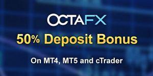 non deposit forex bonus from OctaFX broker