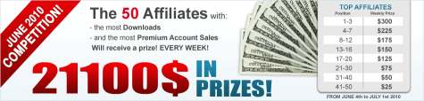$ 21100 in prizes from SharingMatrix in June 2010 competition. Join Sharing Matrix and earn on file hosting!
